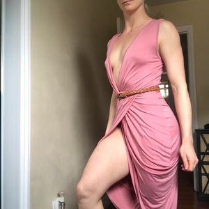 Sexy deep V dress